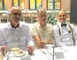 Michel, Hans en Pieter tijdens het diner