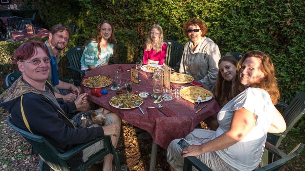 Met Mike en de meiden pannenkoeken eten bij de Smickel